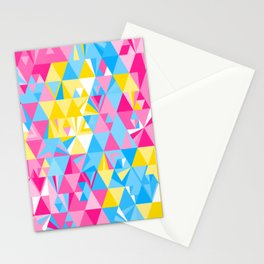 Geometric Pattern 01 • Pansexual Flag Stationery Cards
