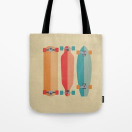 Three types of skateboards Tote Bag