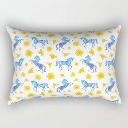 Blue horse love Rectangular Pillow