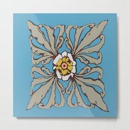 A Flower in the Moonlight Metal Print