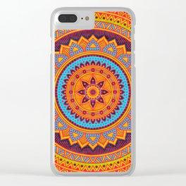 Hippie mandala 67 Clear iPhone Case