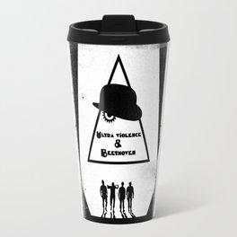 Black Brush - Ultra violenceand Beethoven Travel Mug