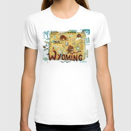 WYOMING map T-shirt