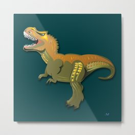 Dinosaur - 'A Fantastic Journey' Metal Print