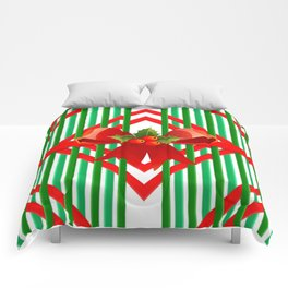 Christmas gift wrap decoration red green Comforters