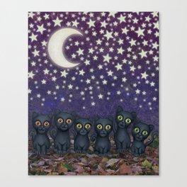 black cats, stars, & moon Canvas Print