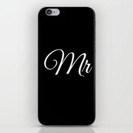 Mr (Black) iPhone Skin