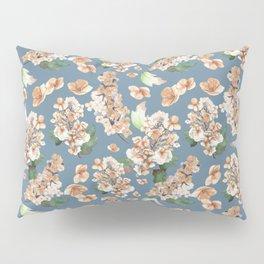 Autumn Hydrangea on Blue Pattern Pillow Sham