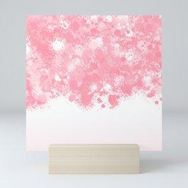 paint splatter on gradient pattern bbpw Mini Art Print