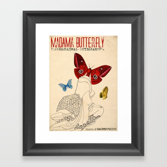 Madama Butterfly Framed Art Print