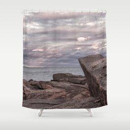 Around Sunset at Halibut Point Shower Curtain