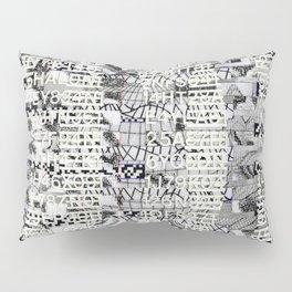 The Eternal Return Of The Unique Event (P/D3 Glitch Collage Studies) Pillow Sham