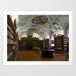 Monastery Library, Prague 2011 Art Print