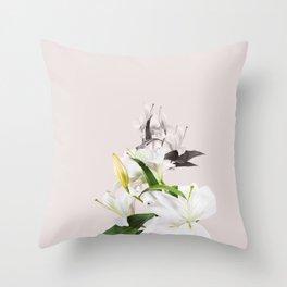 Tropical White Flowers #society6 #decor #buyart Throw Pillow