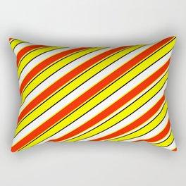 Scarlet and yellow Rectangular Pillow