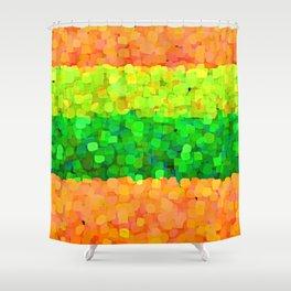 Sparkle Glitter Orange Shower Curtain