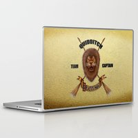 quidditch Laptop & iPad Skins featuring Gryffindor Quidditch Team Captain by JanaProject