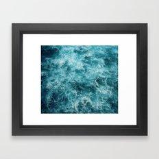 Blue Ocean Waves Framed Art Print