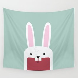 Jawdrop Bunny Wall Tapestry