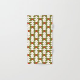 trendy christmas card ornaments festive pattern Baubles Hand & Bath Towel