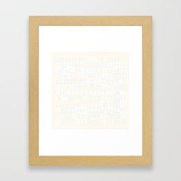Beethoven Moonlight Sonata (Whites) Framed Art Print