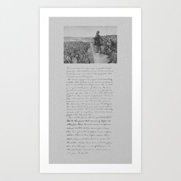 President Lincoln and The Gettysburg Address Art Print