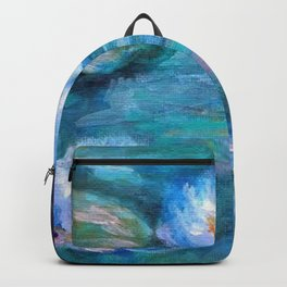 Blue Water Lilies Backpack