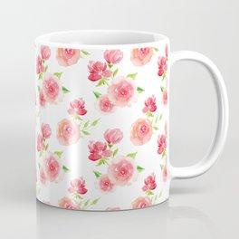 Pretty Pink Rose Pattern Coffee Mug