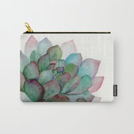 minimalist watercolor succulent Carry-All Pouch