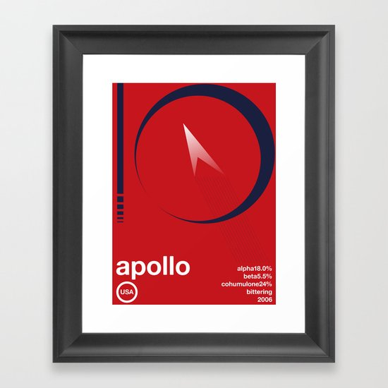 apollo single hop Framed Art Print