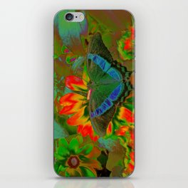Extreme Emerald Swallowtail Butterfly iPhone Skin