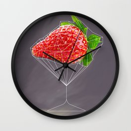 Strawberry cocktail  Wall Clock