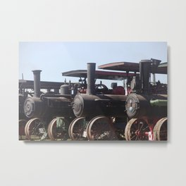 Lined Up and Ready for Work Metal Print