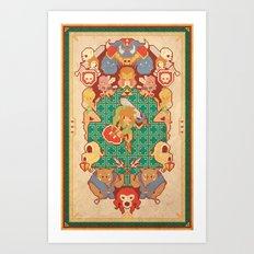 Past Legends Art Print