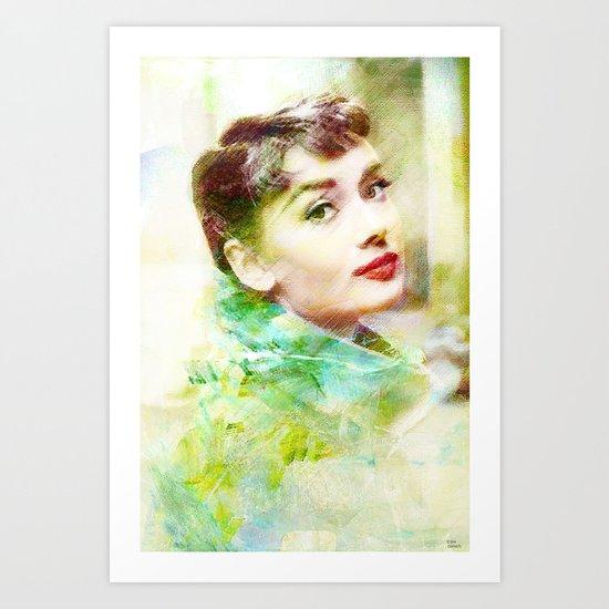 Audrey H.  Art Print