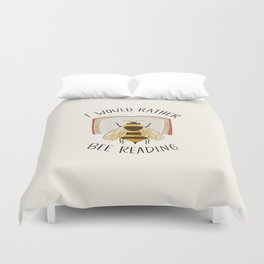 Happy Bee Reading a Book Duvet Cover