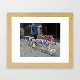 Patterned Hounds Framed Art Print