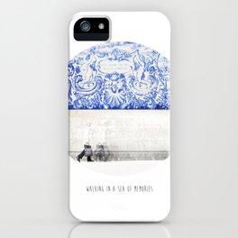 walking in a sea of memories iPhone Case