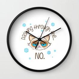 Dashing Through Cat Wall Clock