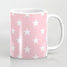 Stars (White/Pink) Coffee Mug