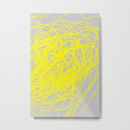 THIS YELLOW COIL Metal Print