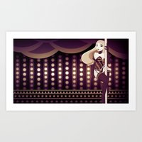 burlesque Art Prints featuring Burlesque by ihasb33r