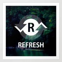 Refresh Art Print
