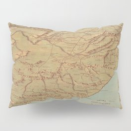 Vintage Map of South Africa (1899) Pillow Sham
