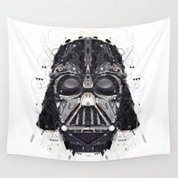 darth vader Wall Tapestries featuring darth vader by yoaz