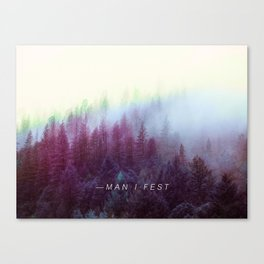 Manifestation Trees - Mantra Poster Canvas Print