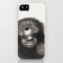 The Deformed Polyp Floated on the Shores, a Sort of Smiling and Hideous Cyclops by the Flower (1883) iPhone Case