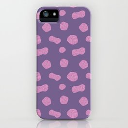 I Don't Have a Yarn Problem Pink Purple iPhone Case