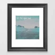 The Open Road Framed Art Print