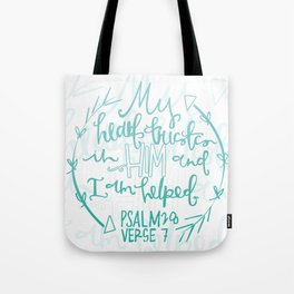 Psalm 28 Hand Lettering Tote Bag